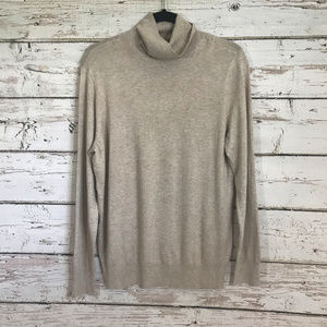 Ann Taylor Beige Turtleneck lightweight sweater